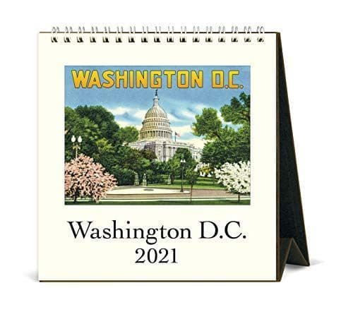 Cavallini & Co Washington DC Desk Calendar 2021